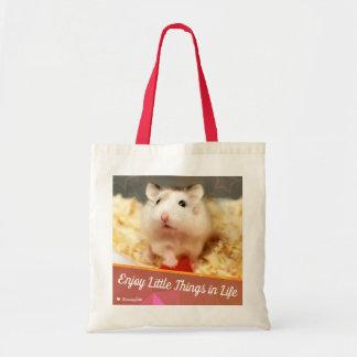 Hammyville - Cute Hamster Enjoy Little Things Tote Bag