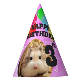 Hammyville - Cute Hamster Fuschia Gems Party Hat