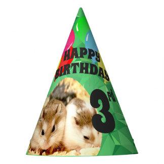 Hammyville - Cute Hamster Green Gems Party Hat
