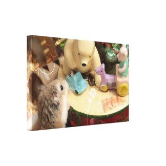 Hammyville - Cute Hamster Holiday Canvas Print