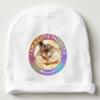 HammyVille - Cute Hamster I Am A Cutie Patootie Baby Beanie