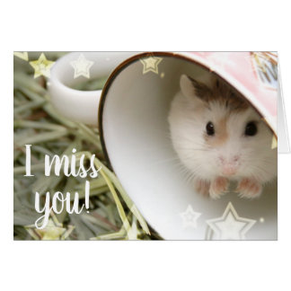 Hammyville - Cute Hamster in a Cup Card