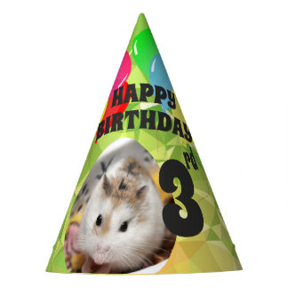 Hammyville - Cute Hamster Lime Green Gems Party Hat