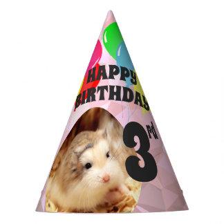 Hammyville - Cute Hamster Pink Gems Party Hat