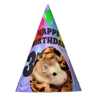 Hammyville - Cute Hamster Purple Gems Party Hat