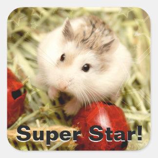 Hammyville - Cute Hamster Square Sticker