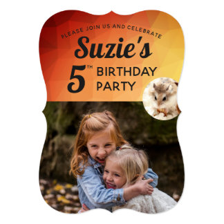 Hammyville - Cute Hamster Vibrant Personalize Card