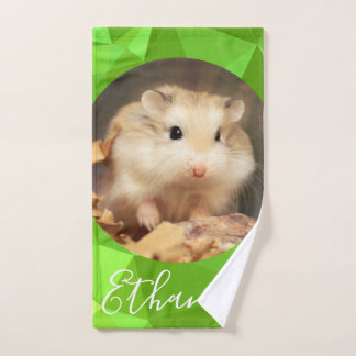 HammyVille - Cute Robo Hamster Customize Name Bath Towel Set