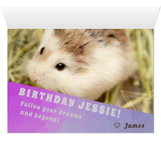 Hammyville - Hamster Surprise Happy Birthday Card