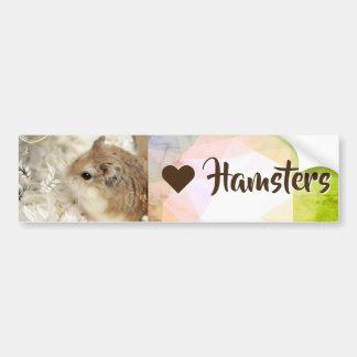 Hammyville - I Love Hamster Bumper Sticker