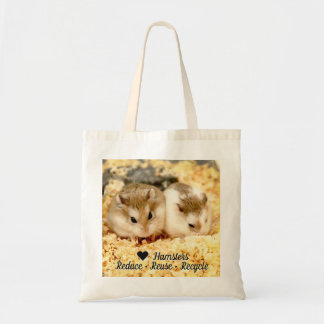 Hammyville - Love Hamster Reduce Reuse Recycle Tote Bag