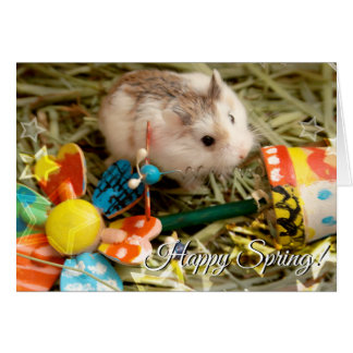 Hammyville - Spring Flower Hamster Card