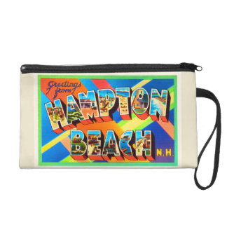 Hampton Beach #2 New Hampshire NH Travel Souvenir Wristlet Clutch