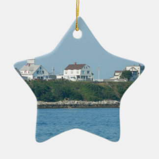 Hampton Beach - Beach Houses Ceramic Ornament