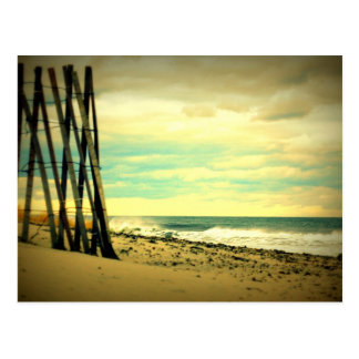Hampton Beach Fence Postcard