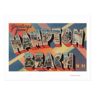 Hampton Beach, New Hampshire - Large Letter Postcard