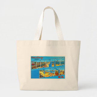 Hampton Beach New Hampshire NH Old Travel Souvenir Large Tote Bag