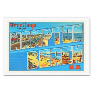 Hampton Beach New Hampshire NH Old Travel Souvenir Tissue Paper