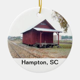 Hampton Depot Ceramic Ornament