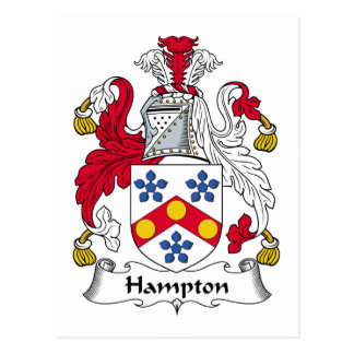 Hampton Family Crest Postcard