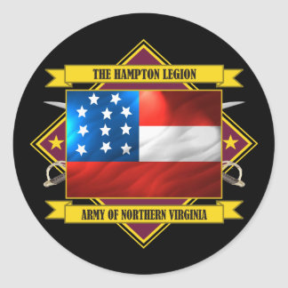 Hampton Legion (Flags 3) Classic Round Sticker