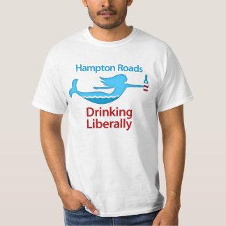 Hampton Roads Drinking Liberally Round Logo Shirt