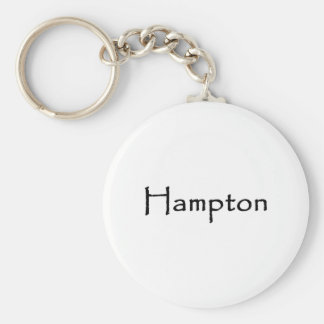 Hampton Text Logo Keychain