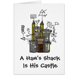 Ham's Castle Shack Greeting Card   Customize It!