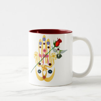 Hamsa and Flowers Mugs