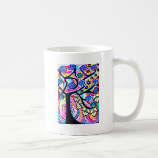 hamsa and tree off life by Sandra Silberzweig Coffee Mug