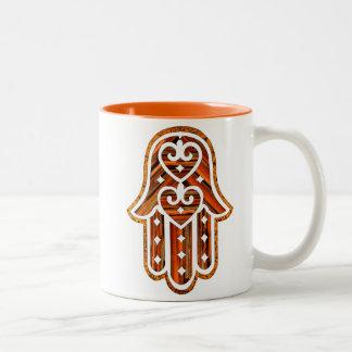 Hamsa-Enchanted Two-Tone Coffee Mug
