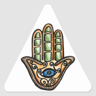 Hamsa Eye Triangle Sticker