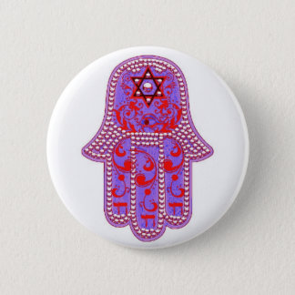 Hamsa good fortune button
