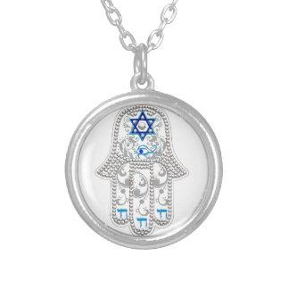 Hamsa good fortune necklace