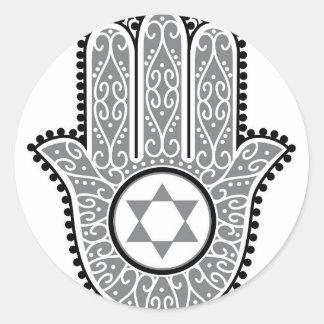 hamsa_gray.jpg round sticker