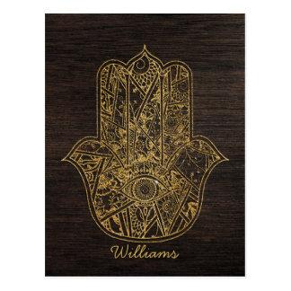 HAMSA Hand of Fatima symbol amulet design Postcard