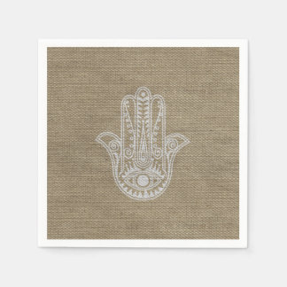 HAMSA Hand of Fatima symbol amulet Disposable Napkins
