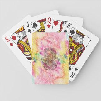 HAMSA Hand of Fatima symbol amulet Henna floral Poker Deck