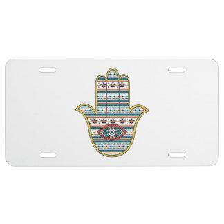 HAMSA Hand of Fatima symbol amulet tribal Aztec License Plate