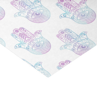 Hamsa Hand Pattern Purple and Blue Tissue Paper
