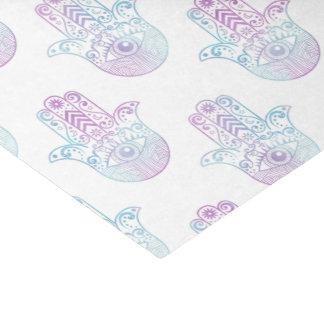 Hamsa Hand Pattern Purple and Blue Tissue Paper