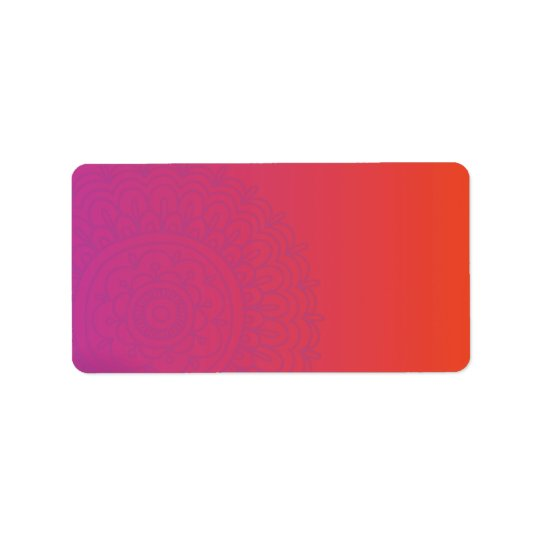 HAMSA HAND Red Orange Print your own labels