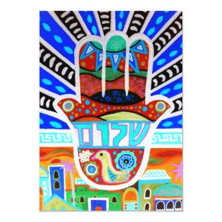 Hamsa Judaica Bar Bat Mitzvah Invitation
