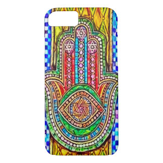 Hamsa Spiritual Mosaic Watercolor Art iPhone 7 Case