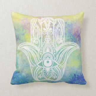 Hamsa Symbol Throw Pillow