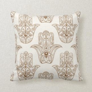 Hamsa symbols throw pillow