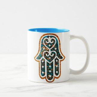 Hamsa-Topaz Two-Tone Coffee Mug