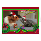 Hamster and Toad Celebrate Christmas Card