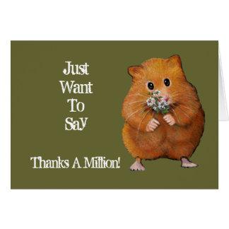 Hamster, Daisies: Thanks A Million: Artwork Card