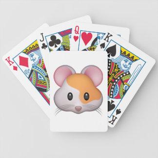Hamster - Emoji Bicycle Playing Cards